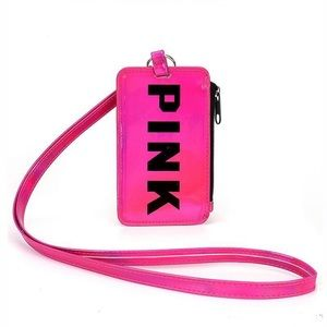 💕PRICE FIRM NWT VS PINK LANYARD WITH POCKETS 💕